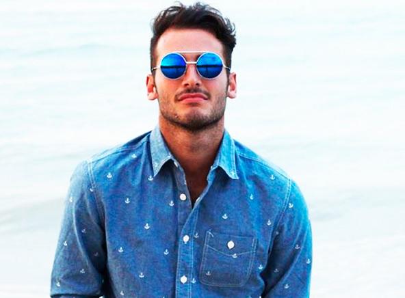 Круглые очки солнцезащитные мужские фото